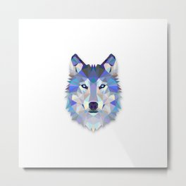 POLYGON WOLF HEAD Metal Print