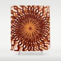 graphic design Shower Curtains featuring Graphic Design by gabiw Art