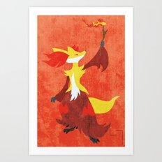 Delphox Art Print