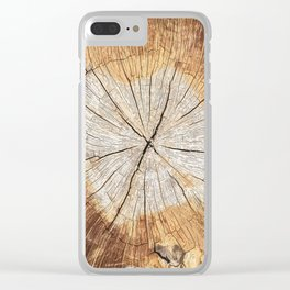 pattern log Clear iPhone Case