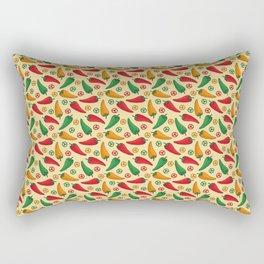 Hot Peppers Doodle Pattern - Taco Series Rectangular Pillow