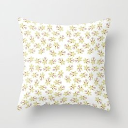 Sedirea japonica orchid pattern Throw Pillow