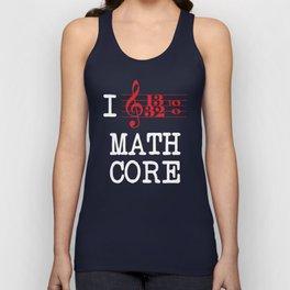 I Love Mathcore Unisex Tank Top