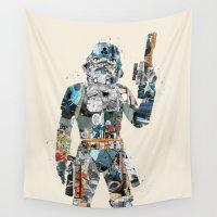 trooper Wall Tapestries featuring modern trooper by bri.buckley