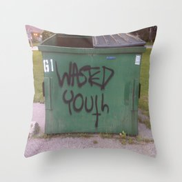 wasted youth Throw Pillow