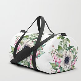 Gentille watercolor handpainted clipart, floral, flower, design, stylish, wedding, invitation Duffle Bag
