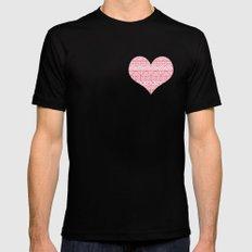Patterned Valentine Mens Fitted Tee Black MEDIUM