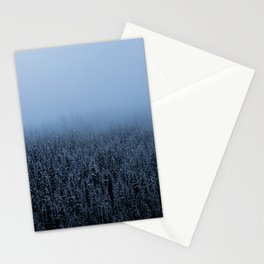 Foggy Lake Louise Trees Stationery Cards