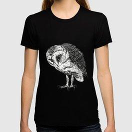 Barn owl pen drawing T-shirt