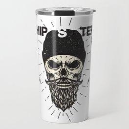Hipster Skull Skeleton Art Travel Mug
