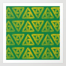 Penrose Triforce Pattern Art Print