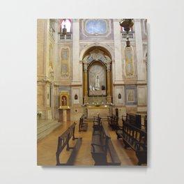 CHURCH IN LISBON Metal Print