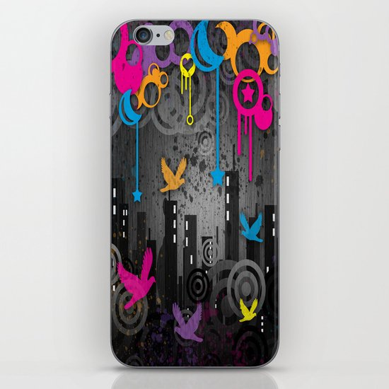 Vector City Grunge. iPhone & iPod Skin