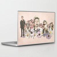 niall horan Laptop & iPad Skins featuring Niall Horan + Flowers by Ladsandstuff