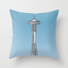 """""""Space Needle"""" in Seattle Throw Pillow"""