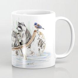 """ Critter Canoe "" wildlife rowing up river Coffee Mug"