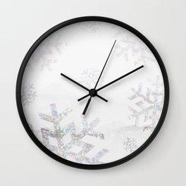 Snowflake Glitter Wall Clock