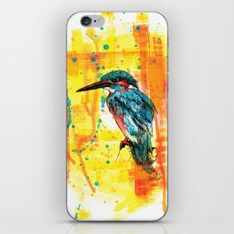 Painting of Kingfisher iPhone Skin