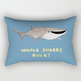 Whale Sharks Rule! Rectangular Pillow