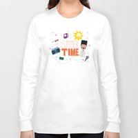 old school Long Sleeve T-shirts featuring OLD SCHOOL!  by Claudia Ramos Designs
