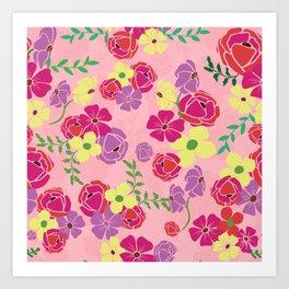 Bonny blooms Art Print
