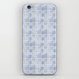 Classical blue with a gray cell. iPhone Skin