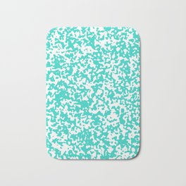 Small Spots - White and Turquoise Bath Mat