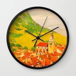 Route de Jura Travel Poster Wall Clock