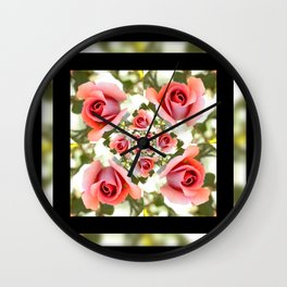 Roses of Romance Wall Clock