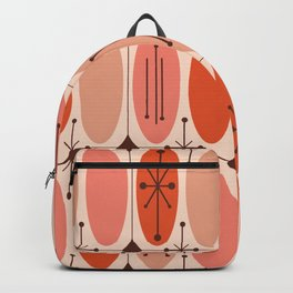 Atomic Era Ovals In Rows Orange Backpack