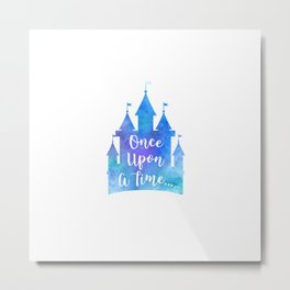 Once Upon A Time Castle Metal Print