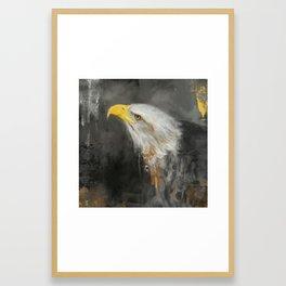 The Mighty Bald Eagle Framed Art Print