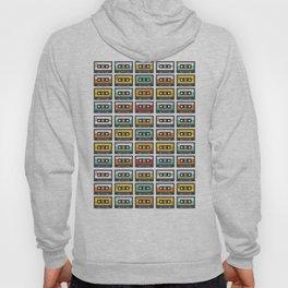 Retro Music Cassette Tapes Pattern Hoody
