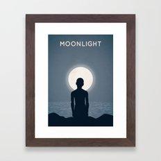 Moonlight Alternative Poster Framed Art Print