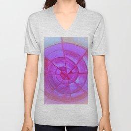 pink blue spiral Unisex V-Neck