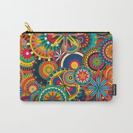 Funky Retro Pattern Carry-All Pouch