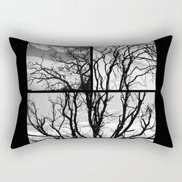 Black Tree Rectangular Pillow