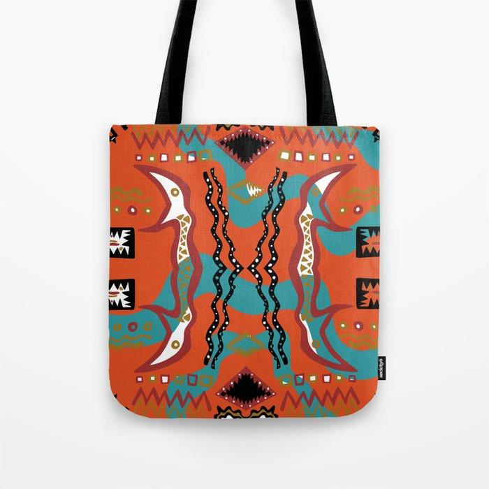 Soul Of the Dream Desert - Carnival Of the Snakes (Orange Edition) Tote Bag
