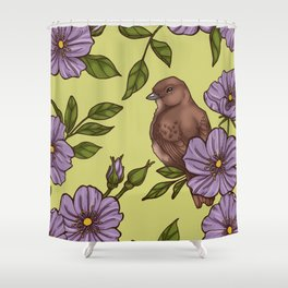 Purple Wild Rose Shower Curtain