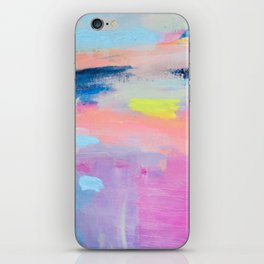 Dreamy Abstract pink Art  iPhone Skin