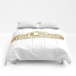 Colombian Sombrero Vueltiao in Gold Leaf Style Comforters