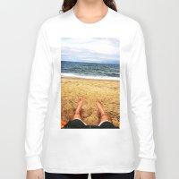 north carolina Long Sleeve T-shirts featuring North Carolina  by ErikMcManusInc.