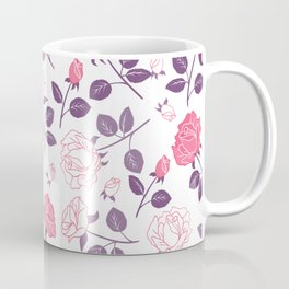Beautiful Modern Flowers Pattern Art Coffee Mug