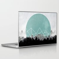 woods Laptop & iPad Skins featuring Woods Abstract 2 by Mareike Böhmer