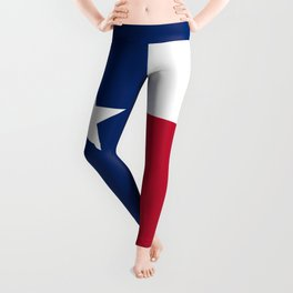 Texas state flag, High Quality Vertical Banner Leggings