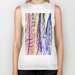 468 - Abstract plant Design Biker Tank