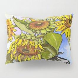 Sunflowers in a Black Vase by Amanda Martinson Pillow Sham
