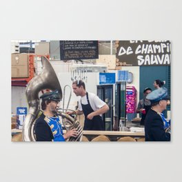 Atwater Market Brass Band Canvas Print
