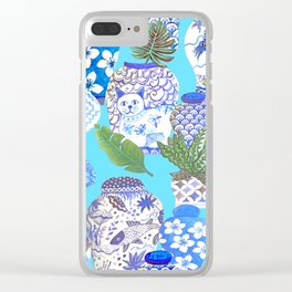 chinese ginger jars, Clear iPhone Case
