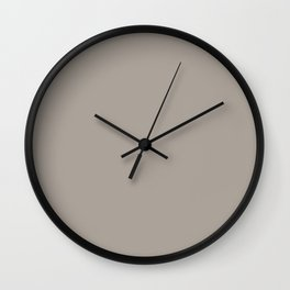 Brown Taupe Solid Color Pairs with Sherwin Williams Heart 2020 Forecast Color - Angora SW6036 Wall Clock